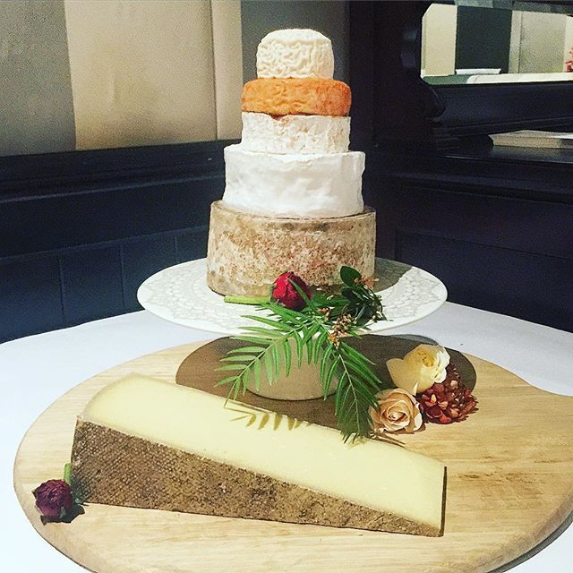 One of our towers with a very elegant wedge of Comte as a feature. A great way to incorporate stunning cheeses that usually come in larger format wheels. We LOVE working with our clients in creative ways to achieve their cheese dreams #melbournecheesecave