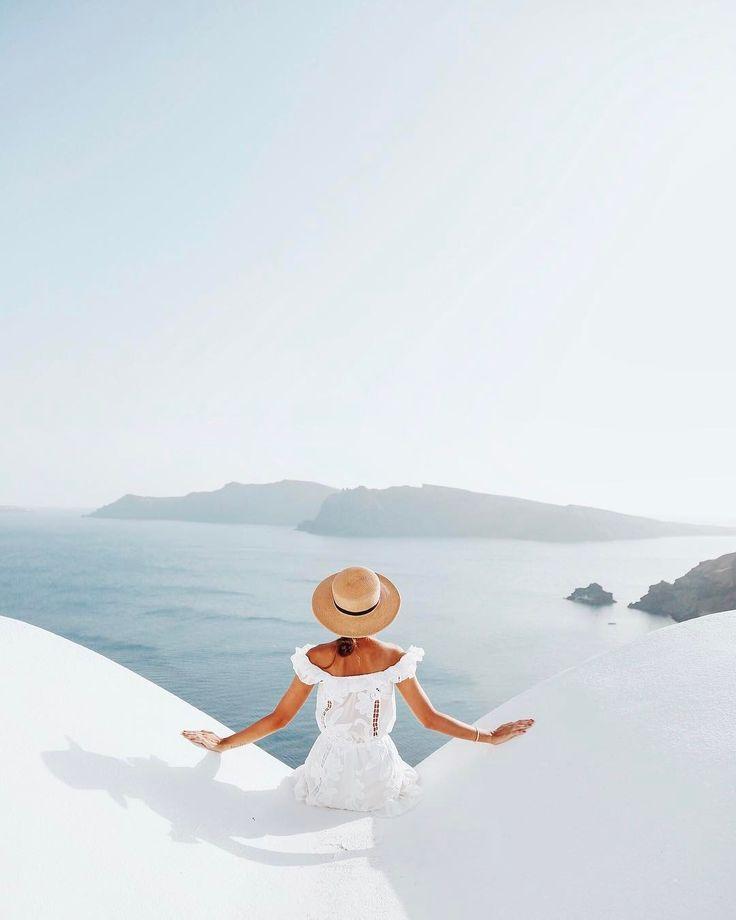 "33.3k Likes, 396 Comments - Alexandra Pereira (@lovelypepa) on Instagram: ""Surreal view  #visitgreece #lovelypepatravels #greece #santorini #oia"""