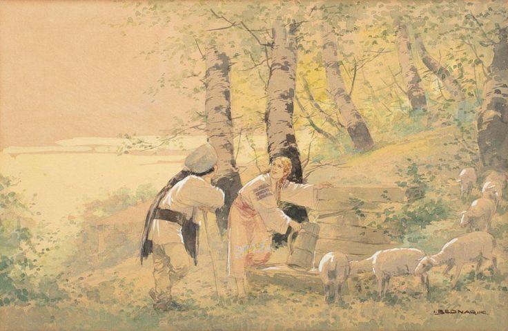 Ignat Bednarik - Ciobănaș cu turma de oi