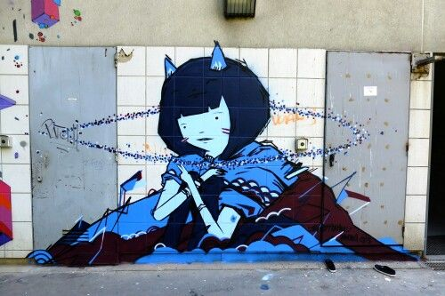 Ghost patrol #ghostpatrol #streetart #streetartparis #vitry #grandparis place jean vilar - juil 2013