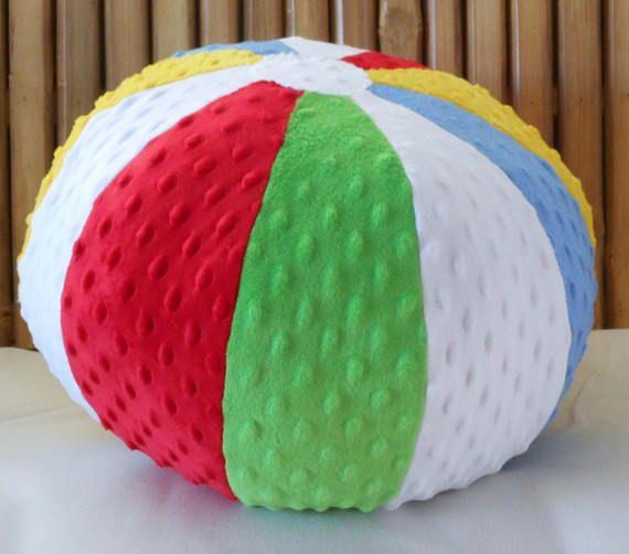 Minky Dot Beach Ball Pillow A Fun Pillow For Your Beach Themed