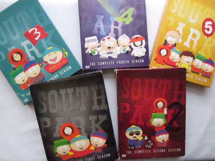 South Park tv Series Lot 15 Dvds Seasons 1-5 adult kids cartoons 1 2 3 4 5