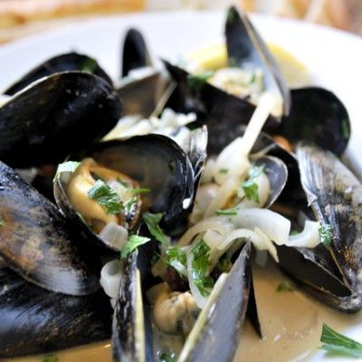 It's so easy to make steamed mussels - Shallots, garlic and white wine make the perfect broth in this recipe.