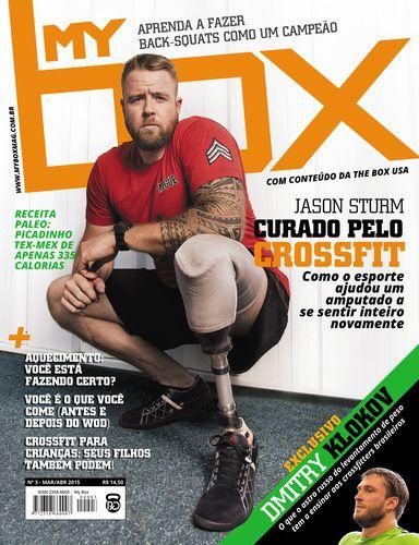 Edição #02 - Jason Sturm, um soldado que teve a perna amputada após um treinamento militar, encontrou dentro de uma afiliada à CrossFit Inc. um novo sentido para sua vida. A história completa você lê na segunda edição da Revista MyBOX.