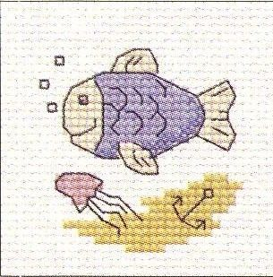 Fish: Cross stitch (Mouseloft, 00B-004bts)