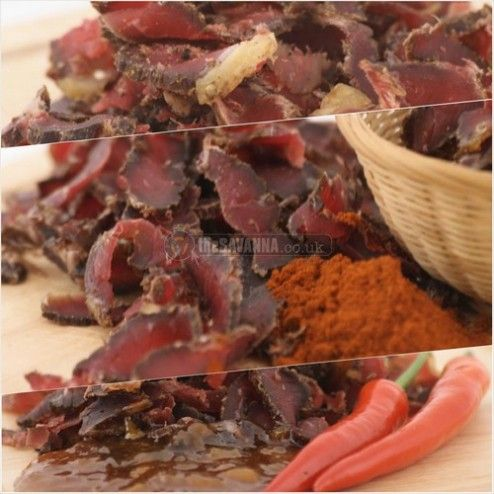 3 150g portions of deliciously tender and tasty biltong. Made from Aberdeen Angus Beef and our own spice recipe, which is also MSG-Free ( MSG-Free for Original and Peri-Peri flavours). Fantastic source of protein enjoyed as a stand-alone snack, a sandwich filler or in a salad. Great for a Paleo diet.