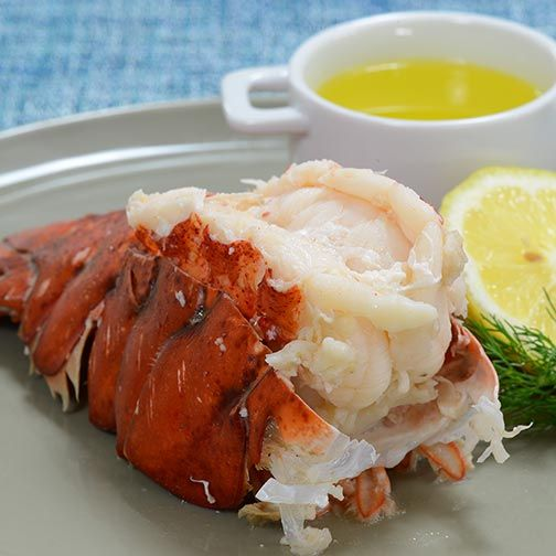 Lemon Butter Boiled Lobster Tails Recipe - Click to enlarge