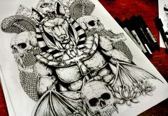 Anubis- Back Tattoo by TheFreaksWorld.deviantart.com on @DeviantArt