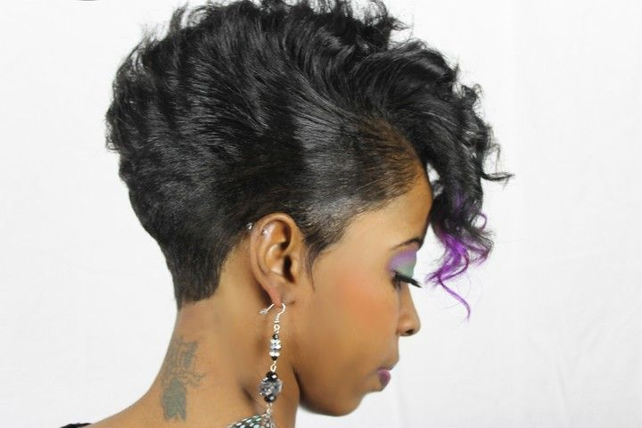 short haircut for black women . Mohawk , color and short hair: Black ...
