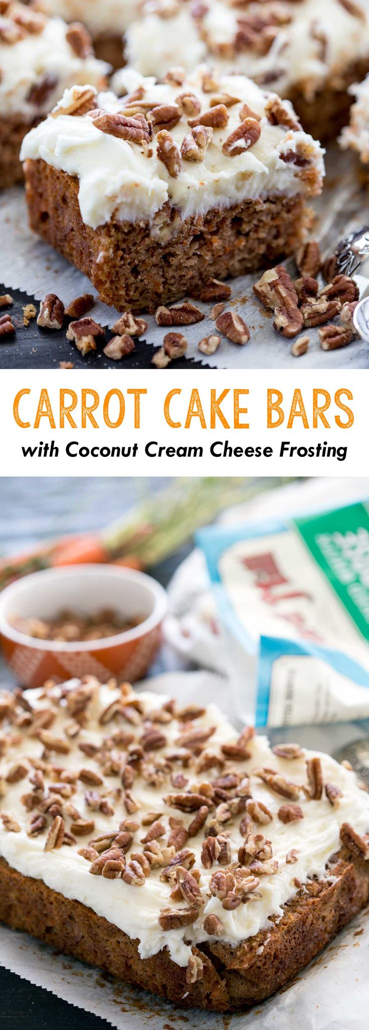 Carrot Cake Bars with Coconut Cream Cheese Frosting. So darn good! #ad #BRMEaster - Eazy Peazy Mealz