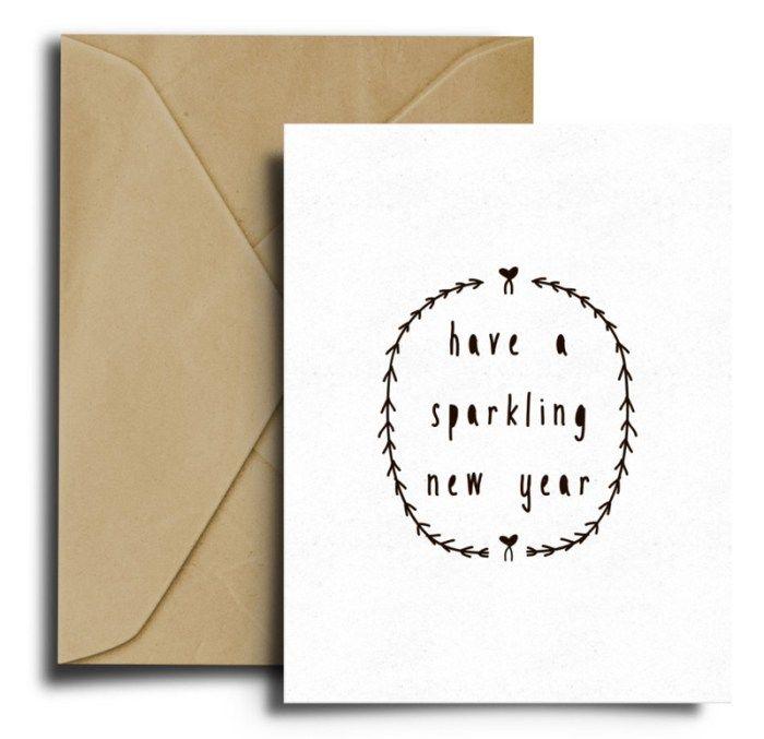 Printable postcard petitestarsandclouds ~ Christmascard Countdown seen on HappyMakersBlog.com  #newyear #nieuwjaarskaart