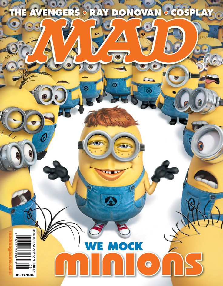MAD Magazine MAD's Minions Cover MAD Covers, Minions, Mark Fredrickson, Alfred E. Neuman, MAD #534, Despicable Me