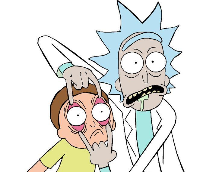 Rick and Morty, my glip glops!