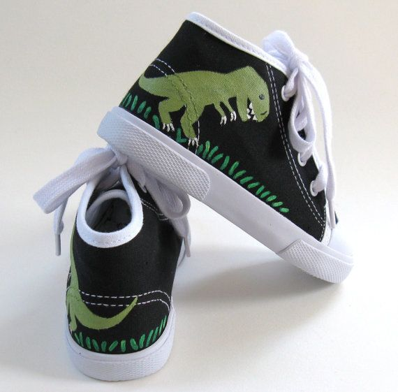 Boys Dinosaur Shoes T Rex Baby and Toddler by boygirlboygirldesign, $30.00