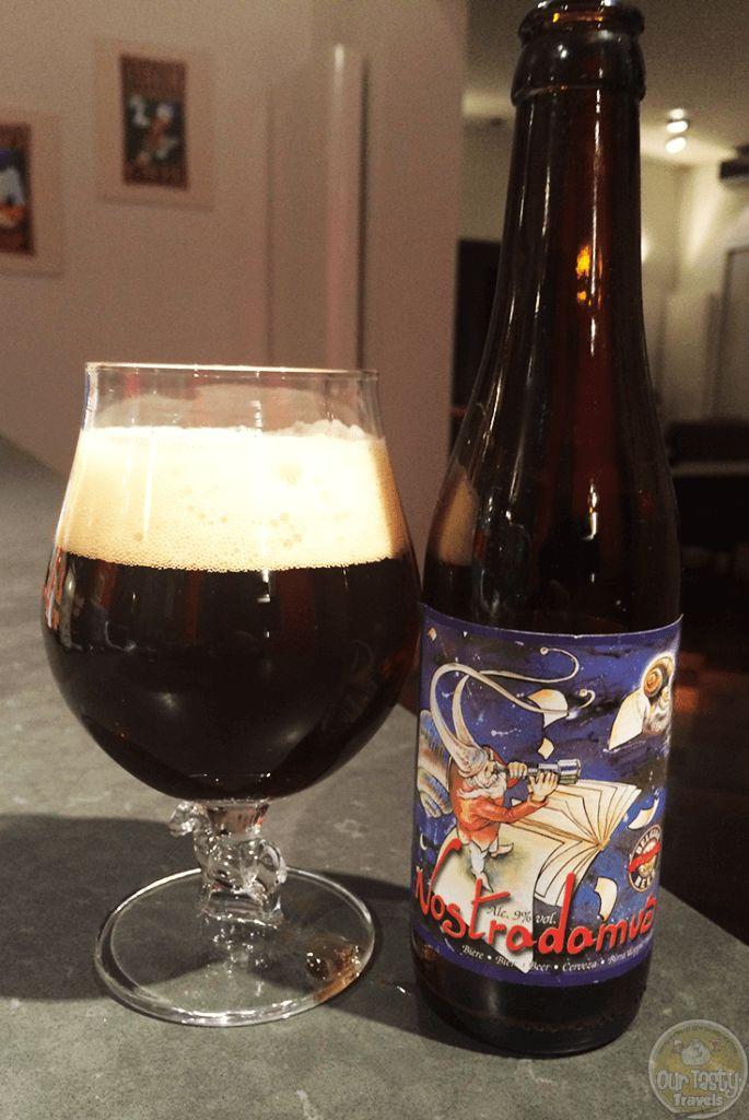 18-Nov-2015: Nostradamus by Brasserie Caracole. Brown beer with candy sugar aroma and some sweet and bitter flavors. #ottbeerdiary