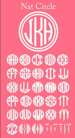 Circle monogram how-to