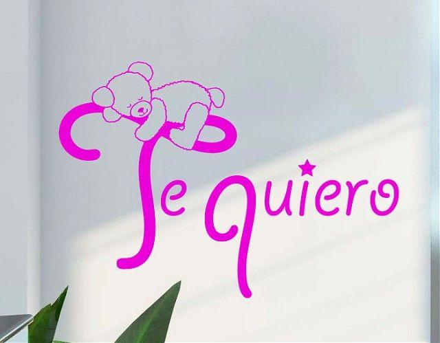 www.ebrevinil.com -  #VinilosDecorativos para bebés Te quiero 03265 - #vinilosinfantiles, #vinilos bebés, #vinilos niños