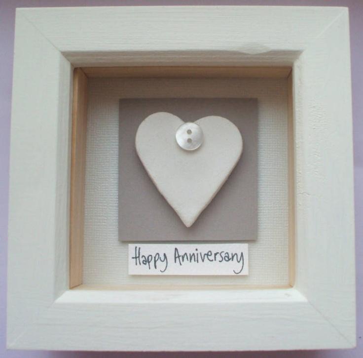 Clay Heart 9th Wedding Anniversary Personalised Gift   eBay