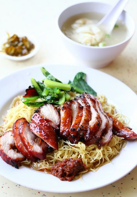 Cha Siu Noodle with Wanton Soup: Azn Stuff, Asian Delicaci, Chinese Couisin, Asian Food 300, Luck Favourit, Cha Siu, Siu Noodles, Favourit Malaysian, Chinese Conge
