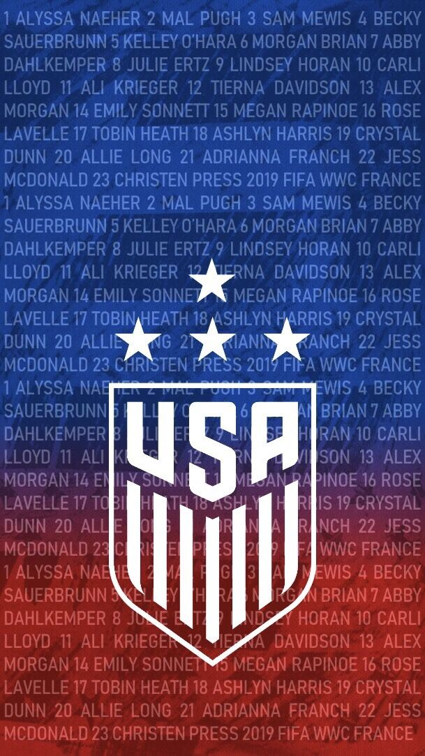 Team Usa Members 2019 Fifa Women S World Cup Usa Soccer Team Usa Soccer Women Us Women S National Soccer Team