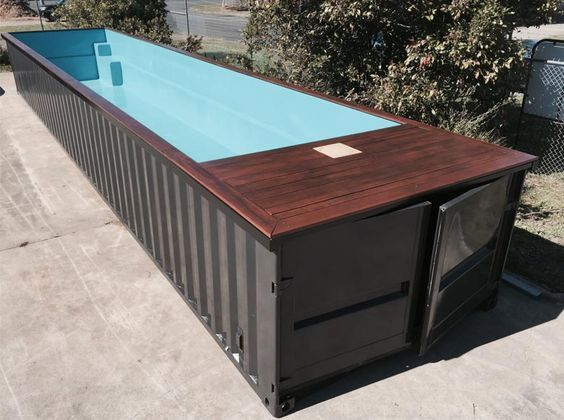 die 25 besten ideen zu containerpool auf pinterest versandbeh lter pool selbstgebauter pool. Black Bedroom Furniture Sets. Home Design Ideas
