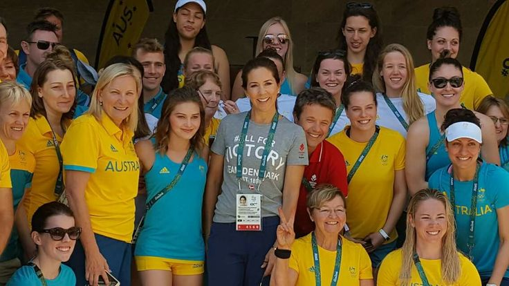 Crown Prince Frederik and Crown Princess Mary visited Australien athletes :D