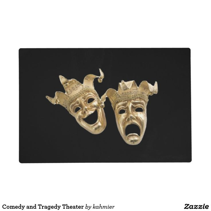 Comedy and Tragedy Theater Placemat #dining