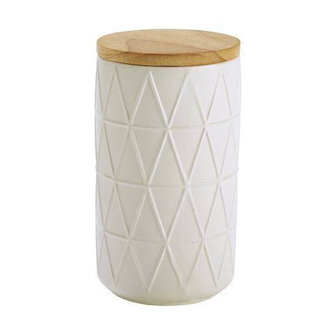 Large Canister Embossed - White