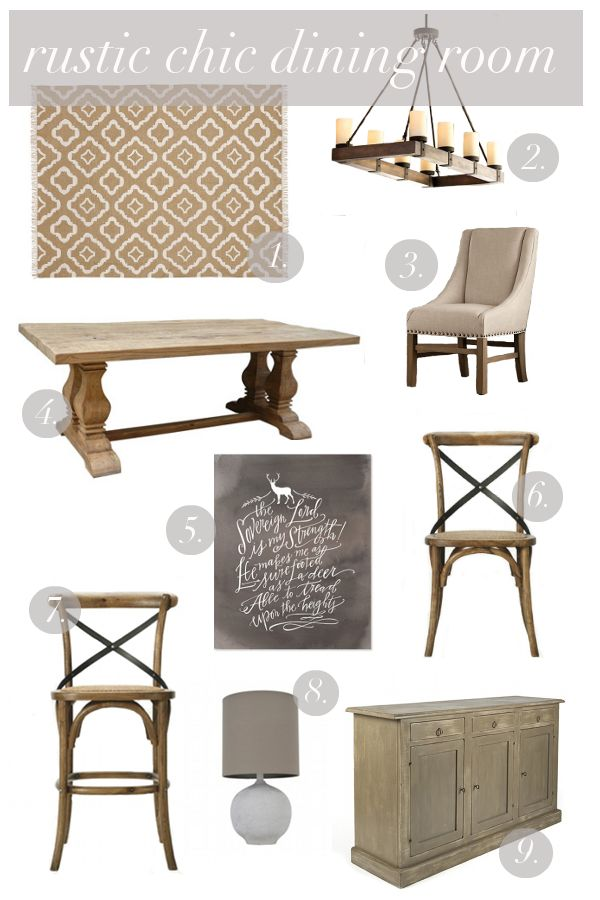 Rustic Chic Dining Room Inspiration