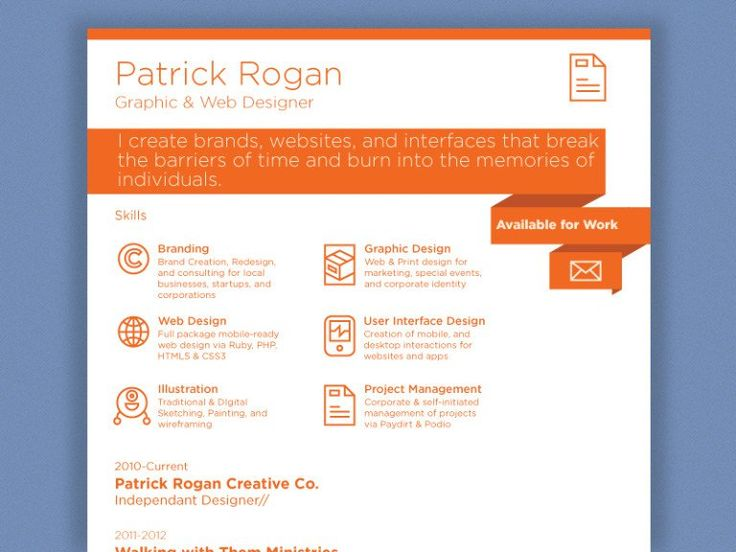 25 best resume images on Pinterest Resume design, Design resume - skills section on a resume