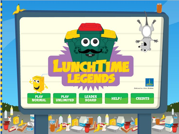 Lunchtime Legends [Brisbane City Council] - Sort the falling rubbish into the two school bins - beat the clock and your friends to become Brisbane's best recycler. Once you've mastered lunchtime recycling, take your knowledge home and become the king of composting. Lunchtime Legends is available for download to play on your iPad.