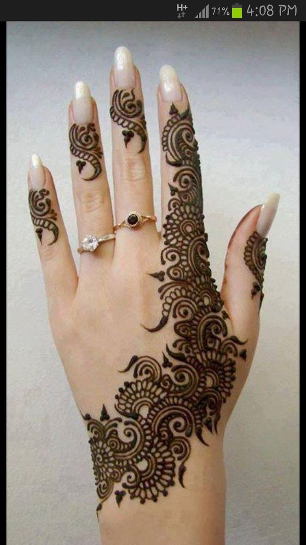 When I said I wanted henna on my hand. This is what I saw in my mind. Lol