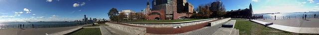 Battery Park City 360 by Alfrodull, via Flickr - A 360 degrees panorama from the Robert F. Wagner Jr. Park in Battery Park City neighborhood of New York, stitched together in Microsoft ICE using multiple iPhone 5 Panorama shots. Yes, there are two statues of Liberty in this shot. Taken only days after Hurricane Sandy, on November 4th, 2012.