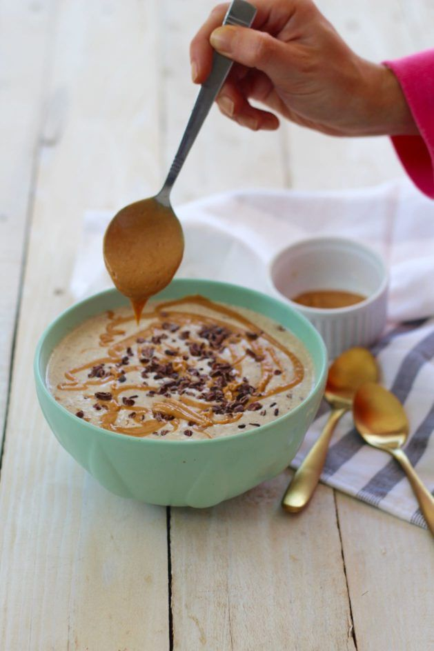 Healthy Peanut Butter Split Smoothie - Breakfast Ideas - Smoothie Recipe by The Merry Maker Sisters