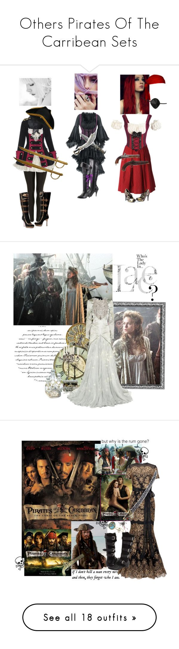 """""""Others Pirates Of The Carribean Sets"""" by medieval-style ❤ liked on Polyvore featuring Topshop, Erika Cavallini Semi-Couture, Black Pearl, WALL, French Country, Alexander McQueen, mcqueen, keira knightley, lizzy and dressing gown"""