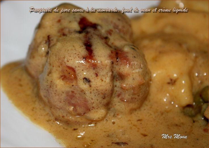 Ingrédients : pour 2 ou 4 personnes 4 paupiettes de porc 1 échalote un peu de beurre un trait d'huile d'olive 25 cl de vin blanc sec 15 cl d'eau 2 càs de moutarde (à l'ancie…