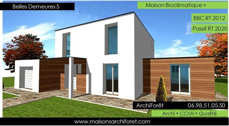 Maison toit plat et toiture terrasse bac acier ou siplast for Architecte maison bois
