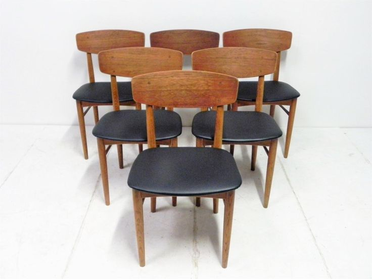 Vintage Scandinavian Wooden Chairs Set Of 6 For Sale At Theydesign  Regarding Vintage Scandinavian Furniture 15 Best Vintage Scandinavian  Furniture U2026