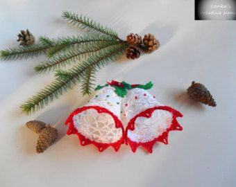 Crochet christmas ornaments White gold by SevisMagicalStitches
