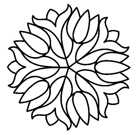 Flower Abstract Coloring Pages : 17 best images about simple mandala on pinterest