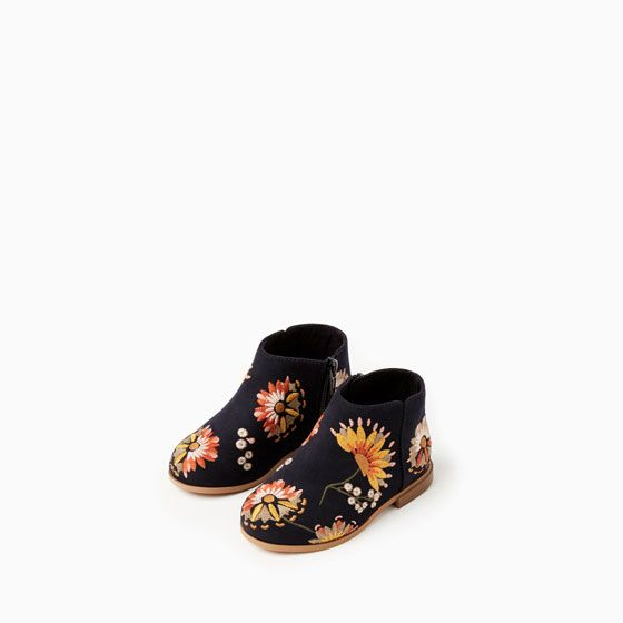 EMBROIDERED BOOTS from Zara