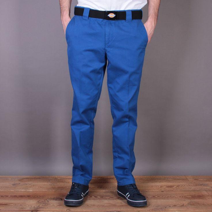 Niebieskie męskie spodnie Dickies C182 GD Pant Royal Blue / www.brandsplanet.pl / #dickies streetwear