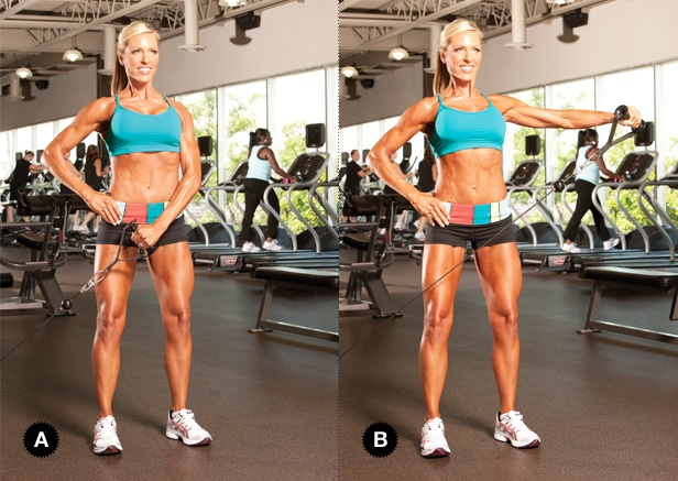 Cable Lateral Raise #Set Up: Stand at the cable machine so ...