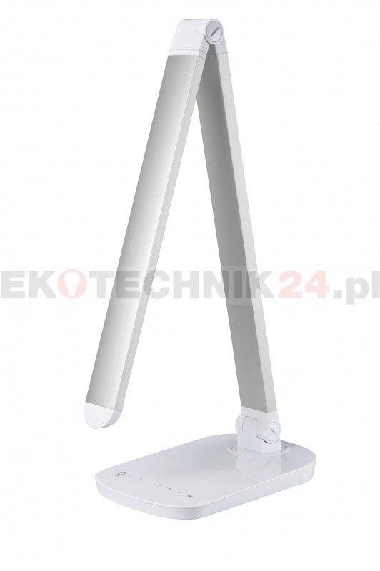 Lampka biurkowa LED biała.