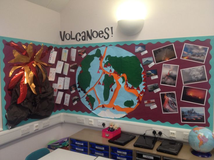 Geography Classroom Decor : Volcanoes display classroom displays pinterest