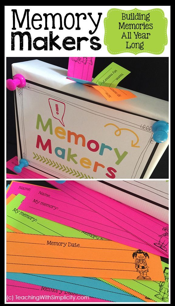 Classroom Community: Build memories all year long with Memory Makers. A FREE printable is included!