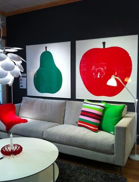 Danese Milano Poster Due La Pera 1963 Green Pear - House&Hold - i need this pear print in my life