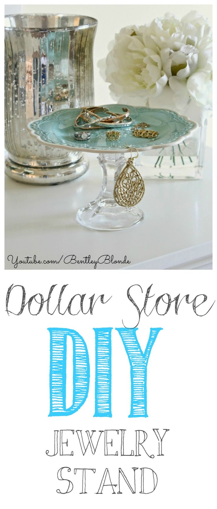 DIY Jewelry Holder / Display | Dollar Store Crafts!