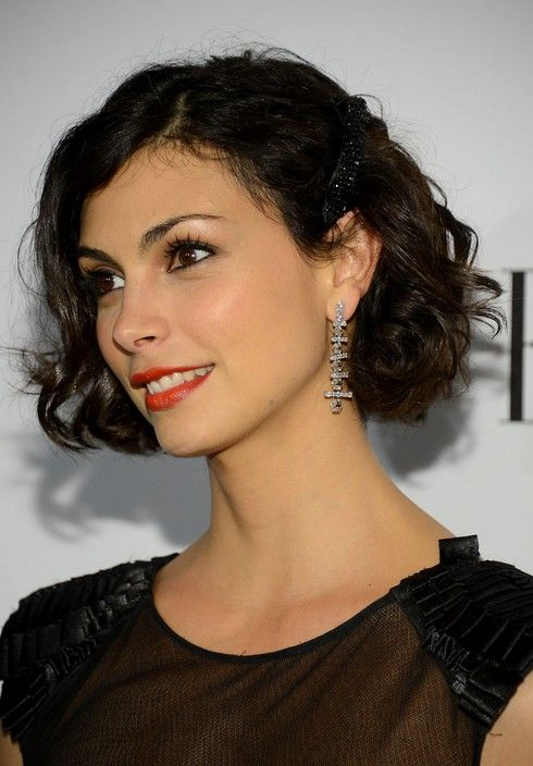 Morena Baccarin Short Hair Style - Chic Short Brown Wavy Hairstyle - for when I cut E's hair