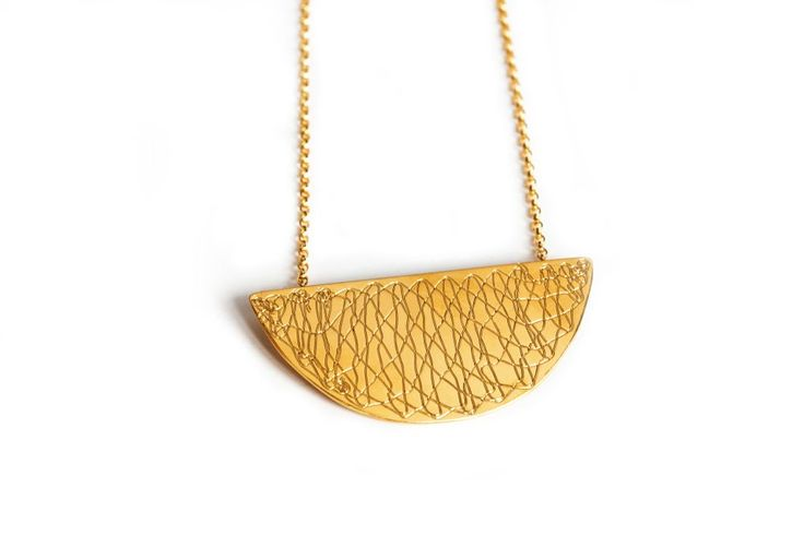Moon Necklace - rose or gold plated via Inlace Jewelry. Click on the image to see more!